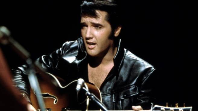 "Elvis Presley bei seinem ""Elvis comeback TV special"""
