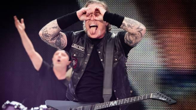 James Hetfield und Lars Ulrich von Metallica.