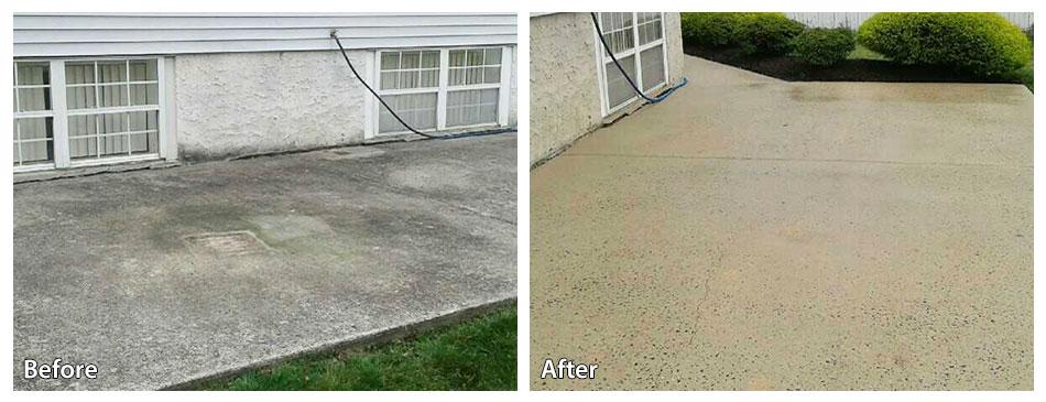transforming a concrete patio with