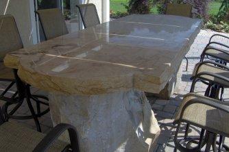 Polished Sandstone Table