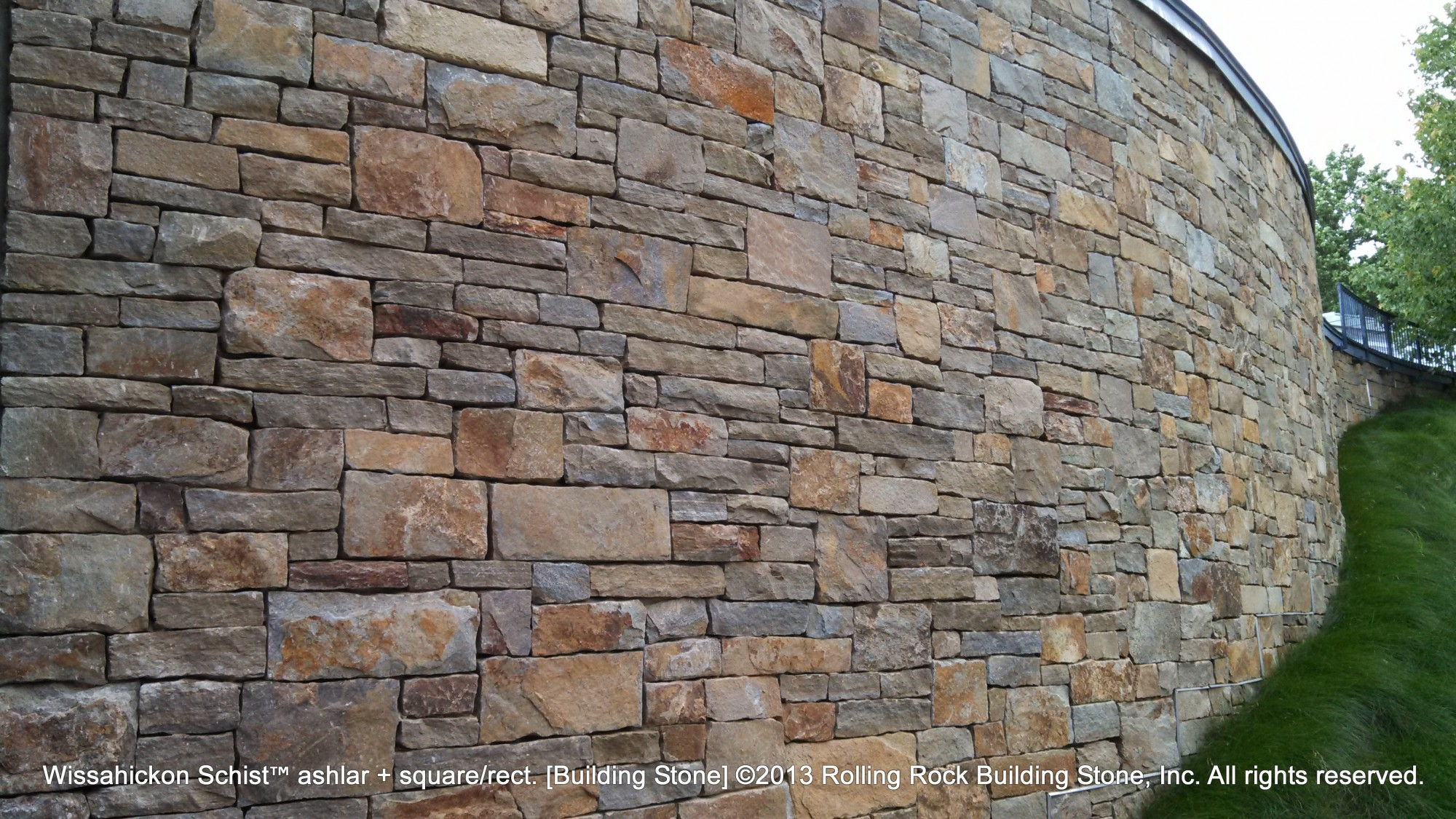 Natural Stone Construction : Wissahickon schist™ ashlar rolling rock building stone inc