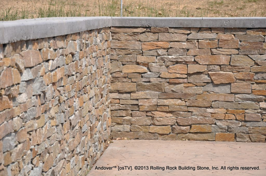 Building Stone Veneer : Andover™ rolling rock building stone inc