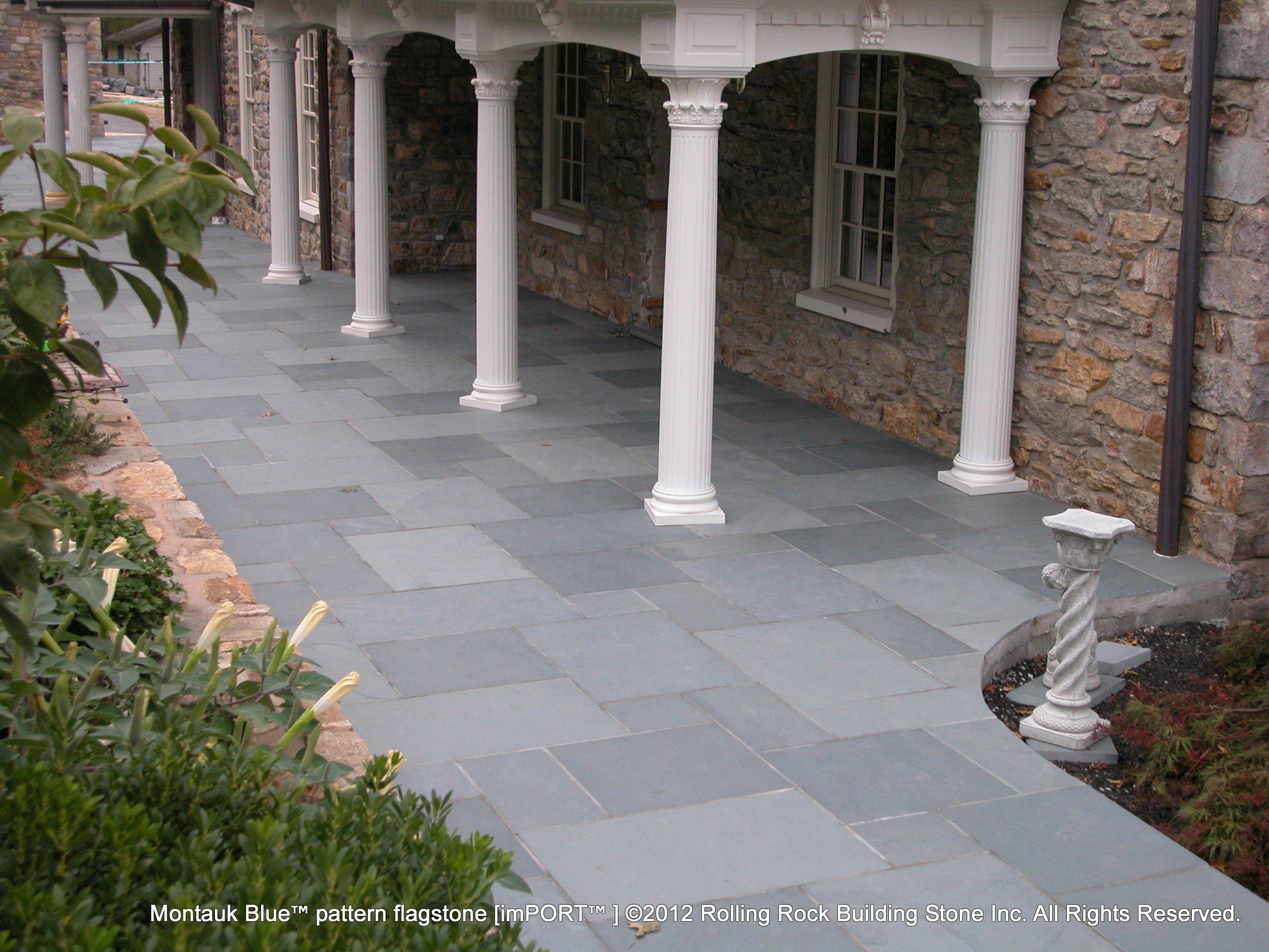 Montauk Blue Pattern Flagstone | Rolling Rock Building Stone
