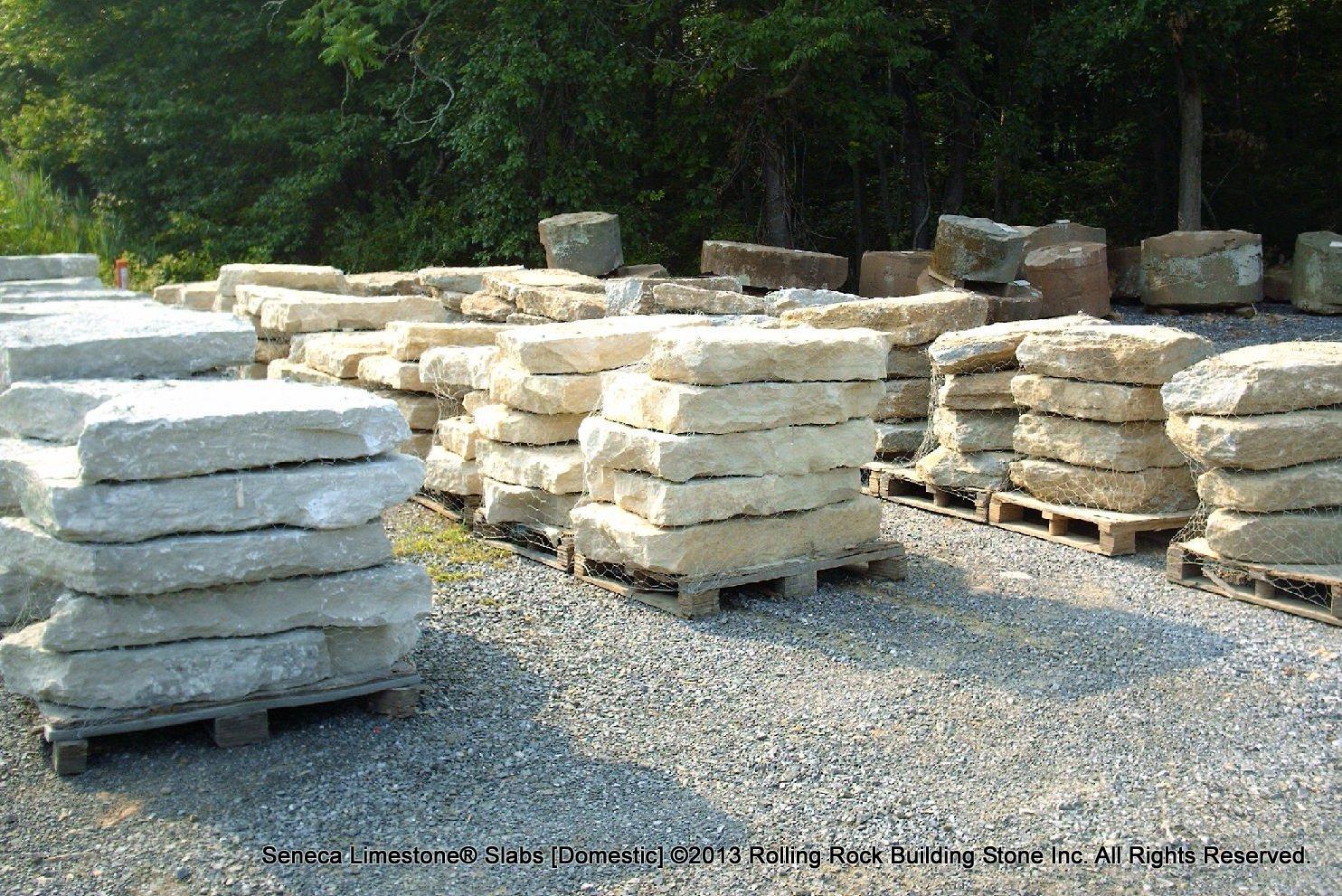 Seneca limestone rolling rock building stone inc for Limestone landscape rock