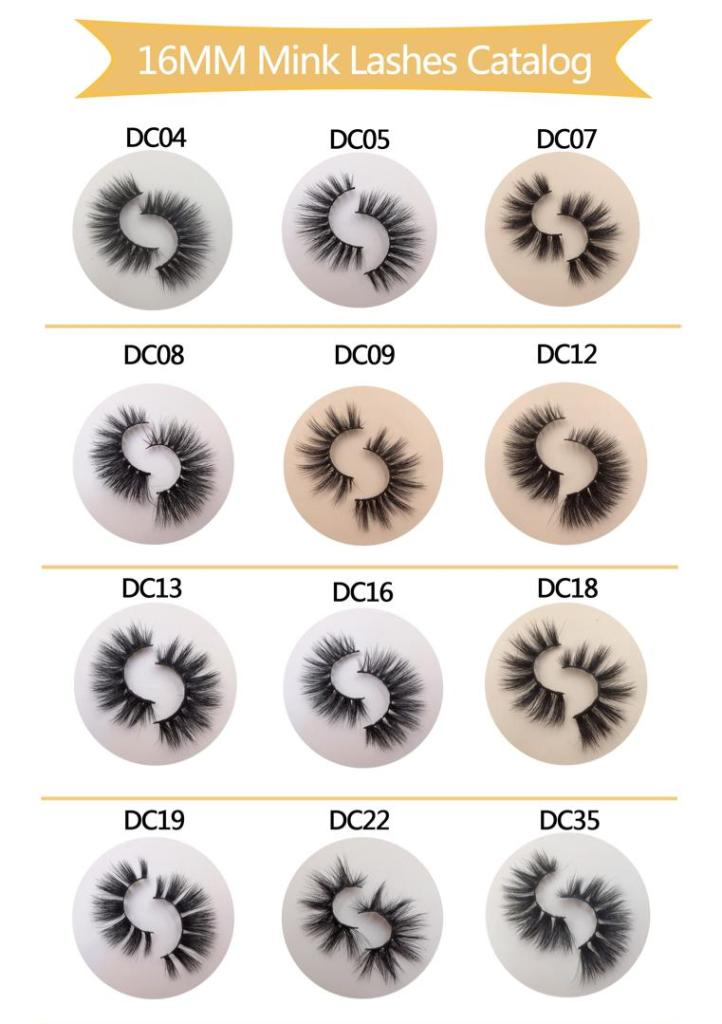 16MM 3D Mink Eyelashes Wholesale