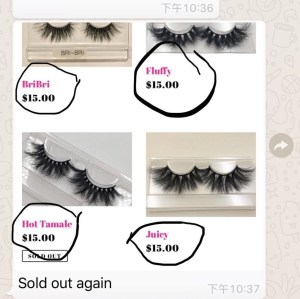 How much do mink lashes sell for?