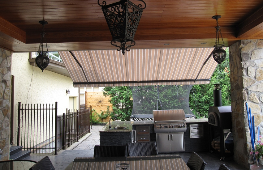 Awning Over Outdoor Kitchen Rolltec 174 Retractable Awnings