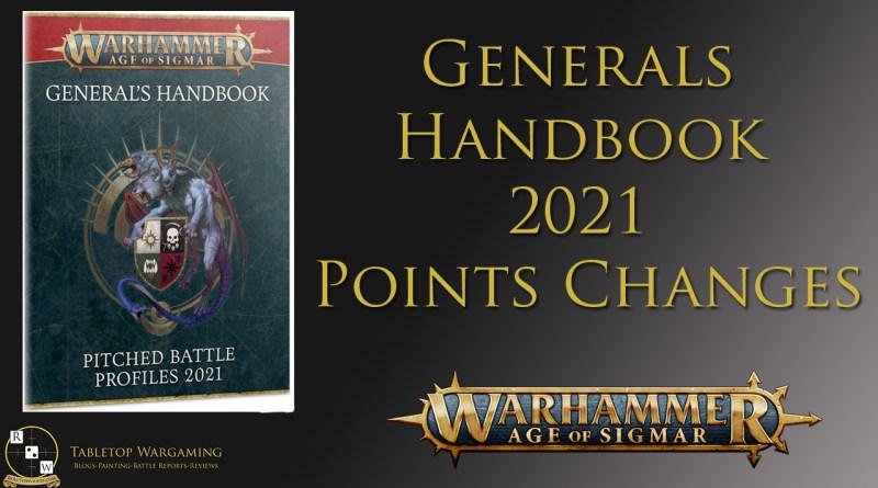 generals handbook 2021 points changes