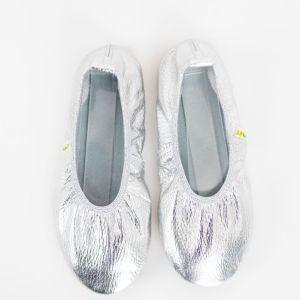 Rolly solski copati za vrtec ballerina silver za punce