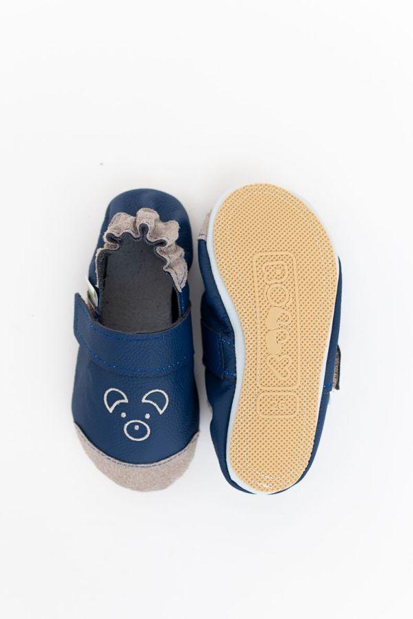 Rolly slippers mini bear navy blue toddler