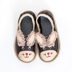 Toddler bunny rolly slippers for kindergarten