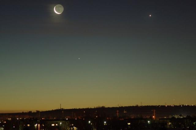 Eventos astronômicos de maio, alinhamento lua mercúrio e vênus