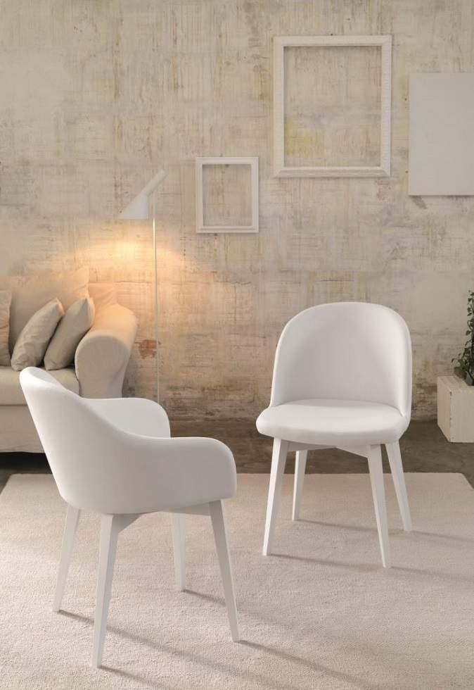 Set cod104 tavoli 80x80 sedie bianche arredo per bar ristorante. Sedie Imbottite Roma Roma Arredamenti