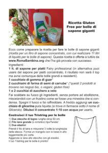 Scarica la ricetta Gluten Free per bolle di sapone giganti