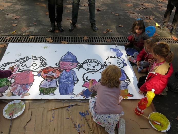 La festa per i bambini a piazza san Cosimato