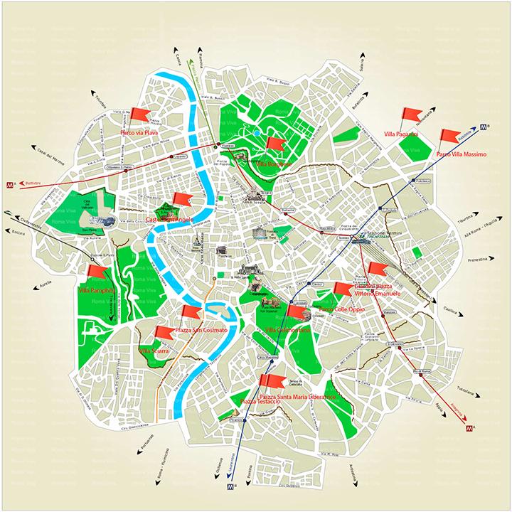 Cartina Citta Roma.Costruisci Con Noi La Mappa Del Gioco In Citta Per I Bambini Romabambina Org