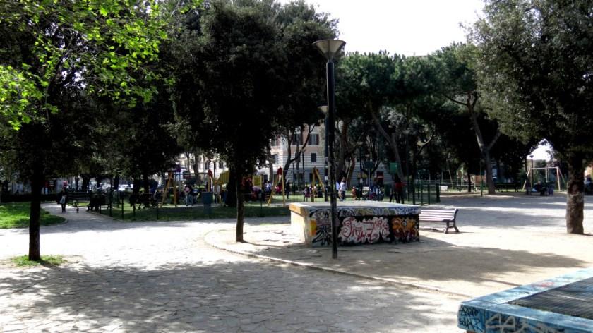I giardini di piazza Re di Roma