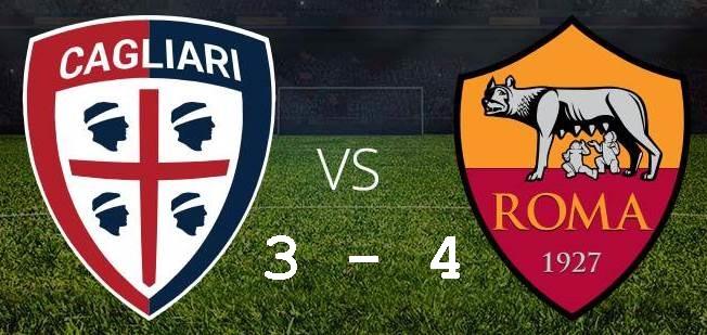 Cagliari Roma 3-4. Con la coatteria di altri tempi rimonta ed espugna la Sardegna Arena di Cagliari