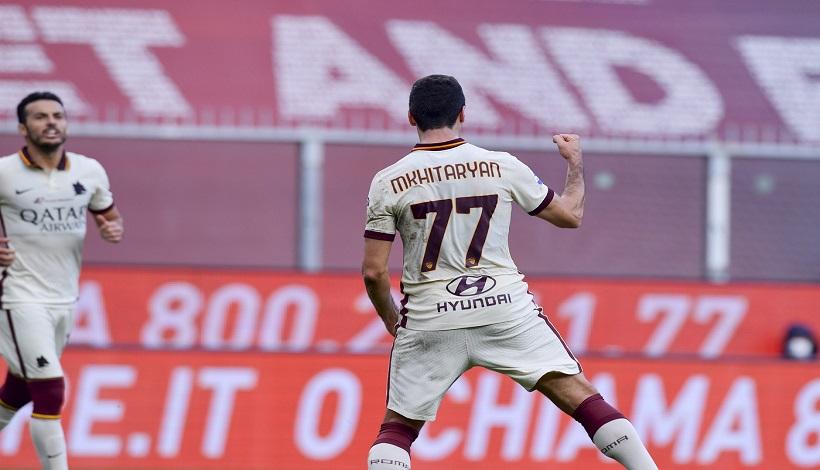Genoa-Roma 1-3, tre gol di Mkhitaryan