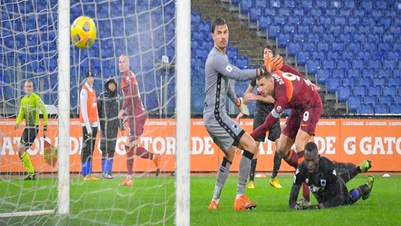 Serie A: la Roma batte la Samp e rimane terza