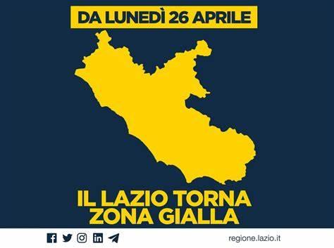 Il Lazio è in zona gialla da lunedì 26 aprile, arriva l'ufficialità dal presidente Zingaretti
