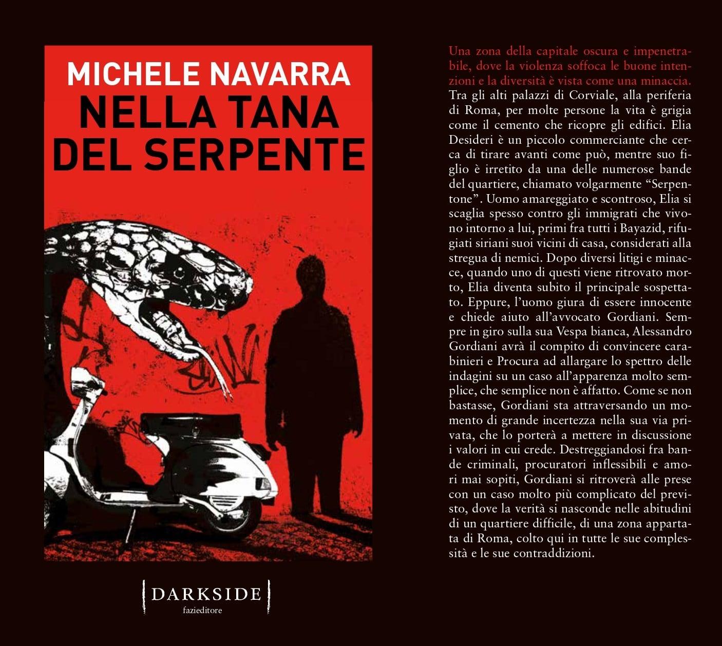 """Libri, """"nella tana del serpente"""" di Michele Navarra"""