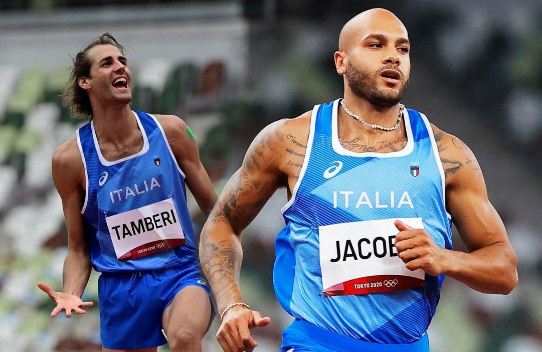Tamberi e Jacobs da sogno: doppio oro nei 100 metri e nel salto in alto
