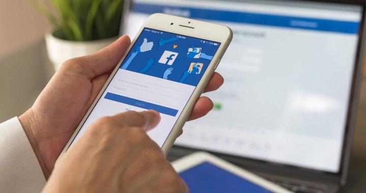 Person Using Facebook