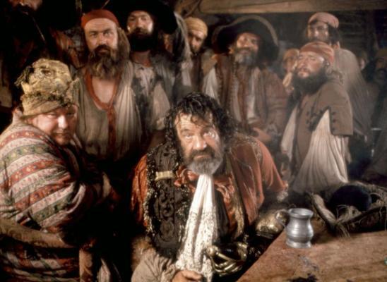 PIRATES, Roy Kinnear (foreground left), Walter Matthau (center), 1986. ©Cannon Films