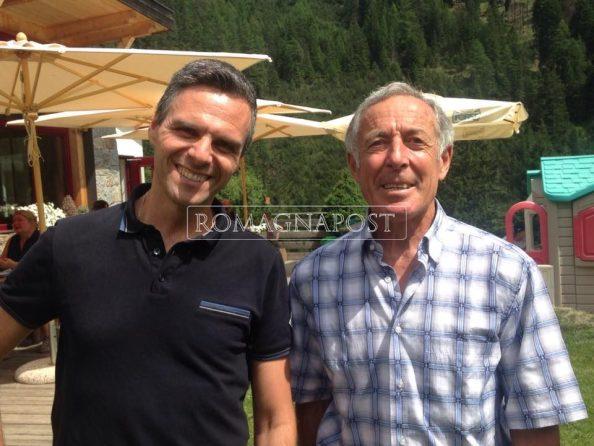 Stefano Favaretto in compagnia di uno dei piú grandi sciatori di tutti i tempi Gustav Thöni a parlare di arte, sport e progetti