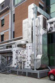 Una unità di trattamento aria per un reparto di terapia intensiva.