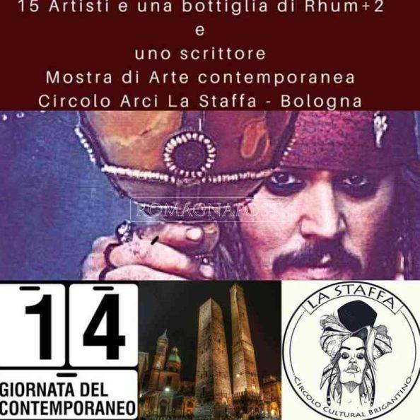"""Mostra Collettiva """"15 ARTISTI E UNA BOTTIGLIA DI RHUM + 2"""" AL CIRCOLO ARCI LA STAFFA A BOLOGNA"""