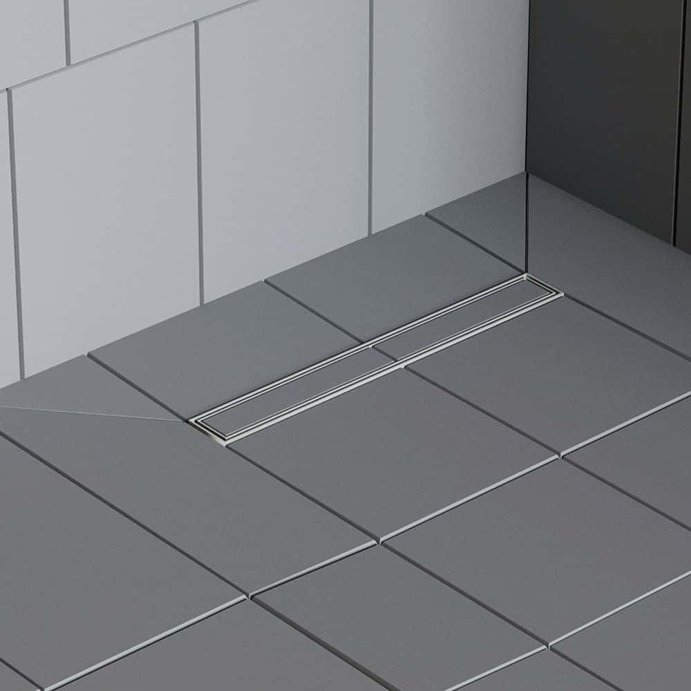 shower lay wetroom base tray linear drain for tiles