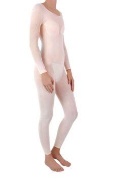 La tenue lpg endermowear modèle femme et de couleur pearl pour le lipomassage.
