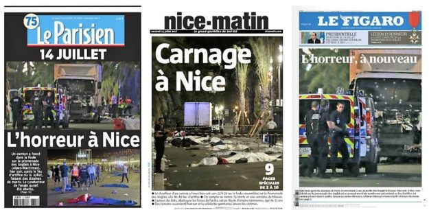 Attentats Nice Les unes de la presse nationale