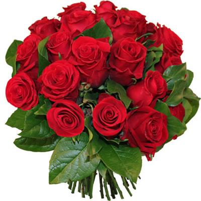 Bouquet de fleurs Saint VALENTIN Roses Rouges