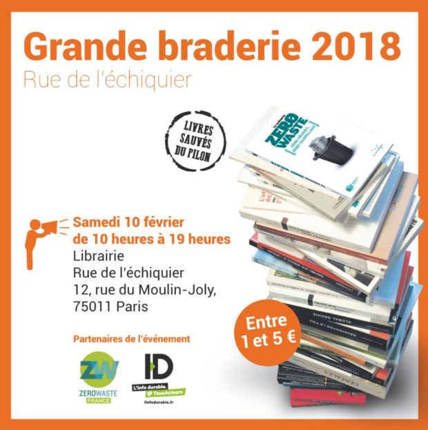 Vente braderie de livres destinés au pilon