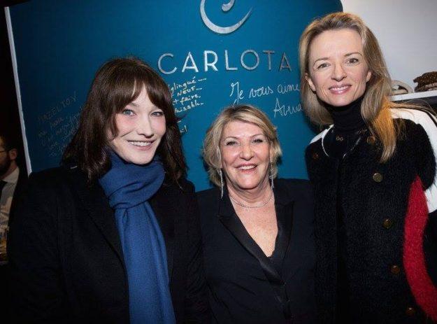 Carla Bruni Sarkosy inauguration Institut Carlota Paris