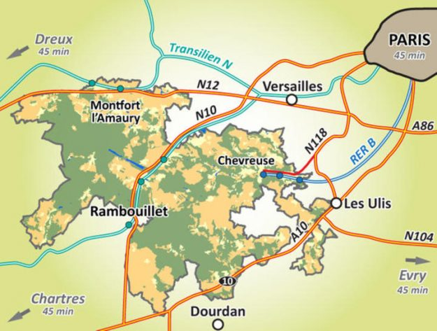 Carte accès Parc Vallée de Chevreuse