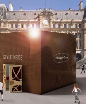 Style inside bye Häagen-Dazs à la Gare Saint-Lazare
