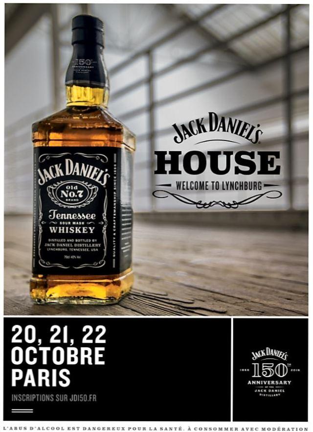 Whisky Jack Daniel's House gagnez vos places pour la soirée anniversaire