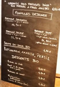 Juicerie carte menu soupe bio