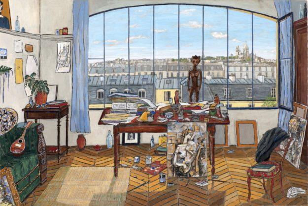 MINI Z EXPOS MUSEE EN HERBE Picasso's studio (Blvd Clichy, 1911)