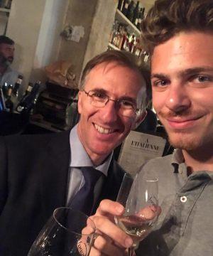 Paolo Basso meilleur Sommelier du monde 2013 avec Ludo Foire aux Vins d'automne Carrefour