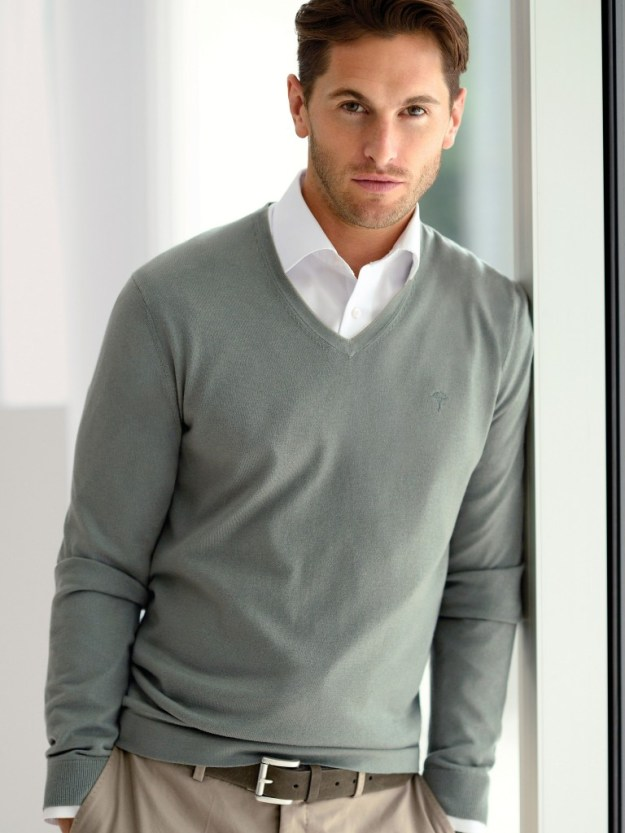 Pull homme manches longues