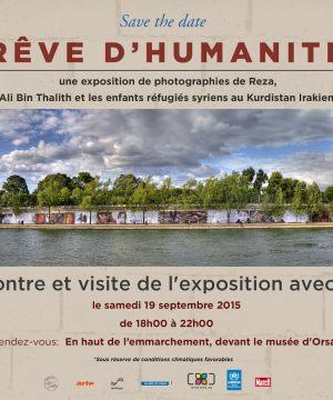 Reza Reghati Exposition R$eve d'Humanité à Paris, rencontre avec le photographe samedi 19 septembre 2015 - Journées du patrimoine Paris