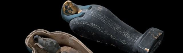 Simulacre végétal d'une momie d'Osiris - Musée Egyptien du Caire.