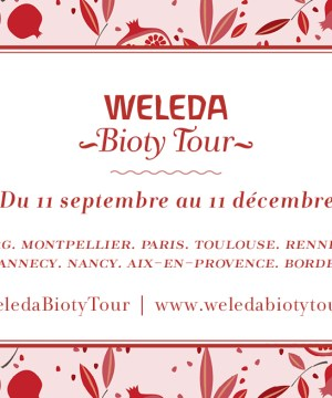 Weleda Bioty Tour Inscriptions