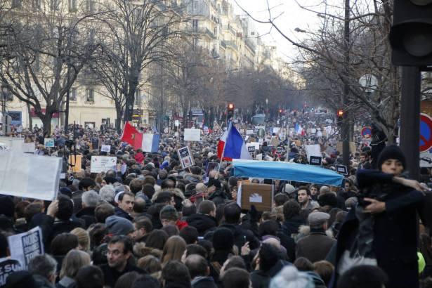 #JeSuisCharlie - Manifestation Paris 11 janvier 2015 - Photo Mitra Etemad - Tous droits réservés / Reproduction interdite.