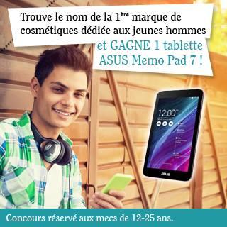 Nouveauté 2015 ! La 1ère marque dédiée aux jeunes hommes - 1 tablette tactile à gagner !